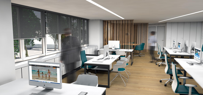 Ficticio 3d hotel barcel oficinas coroneldax for Oficina endesa sevilla